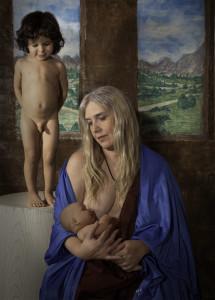 """Madonna and Child with Cherub"""